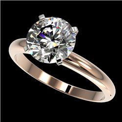2.50 CTW Certified H-SI/I Quality Diamond Solitaire Engagement Ring 10K Rose Gold - REF-870A2V - 329