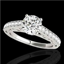 1.65 CTW H-SI/I Certified Diamond Solitaire Ring 10K White Gold - REF-203W6H - 35023