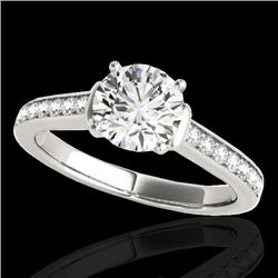 1.50 CTW H-SI/I Certified Diamond Solitaire Ring 10K White Gold - REF-236M4F - 34925