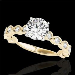 1.75 CTW H-SI/I Certified Diamond Solitaire Ring 10K Yellow Gold - REF-200A2V - 34891