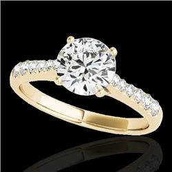 1.25 CTW H-SI/I Certified Diamond Solitaire Ring 10K Yellow Gold - REF-200N2A - 34821