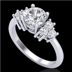 1.50 CTW VS/SI Diamond Solitaire Ring 18K White Gold - REF-409R3K - 36938