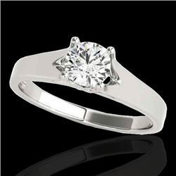 1.50 CTW H-SI/I Certified Diamond Solitaire Ring 10K White Gold - REF-329W8H - 35164