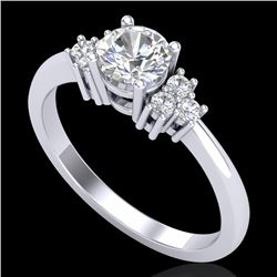0.75 CTW VS/SI Diamond Ring 18K White Gold - REF-131F3N - 36932