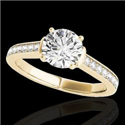 1.50 CTW H-SI/I Certified Diamond Solitaire Ring 10K Yellow Gold - REF-236W4H - 34927