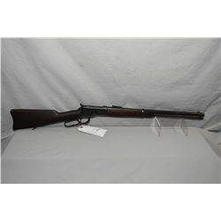 "Winchester Model 1892 .44 WCF Cal Lever Action Saddle Ring Carbine w/ 20"" rnd bbl [ old reblued fini"