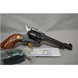 Herbert Schmidt Model 21 .22 LR / .22 Mag Cal 6 Shot Revolver w/ 140 mm bbl [ fading blue finish, ad