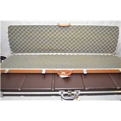 Lot of Two Items: Brown Luggage Style Rifle Case - Tan Gunguard Luggage Style Rifle Case