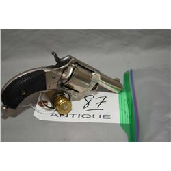 "Webley Model # 1 The Pug .41 RF Cal 5 Shot Revolver w/ 2 5/16"" bbl [ nickel finish, solid style cyli"