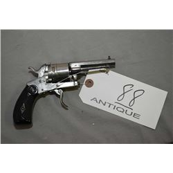 "Belgian Model Folding Trigger .320 Cal 6 Shot Pocket Revolver w/ 3"" bbl [ approx. 75 % of original n"