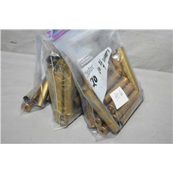 "Lot of Three Bags : 2 Bags ( 20 rnds per ) .50 1/4 Sharps Brass - 1 Bag ( 10 rnds ) .50 3"" Sharps Ne"