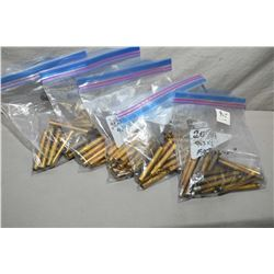 Box Lot of Five Bags : 3 Bags ( 20 rnds per ) 9.3 x 72R Brass, Norma New - 1 BAg ( 27 Rnds ) 9.3 x 7
