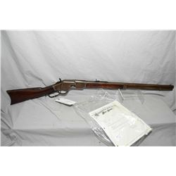"Winchester Model 1873 3 Rd Model .44 - 40 Win Cal Lever Action Rifle w/ 24"" rnd bbl full mag [ fadin"