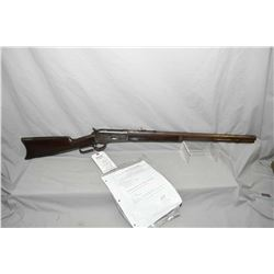 "Winchester Model 1886 .40 - 82 WCF Cal Lever Action Rifle w/ 26"" octagon bbl [ fading blue finish tu"
