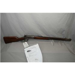 "Winchester Model 1886 .40 - 65 WCF Cal Lever Action Rifle w/ 26"" round barrel full mag [ blued finis"