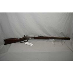 "Winchester Model 1886 .45 - 70 Cal Lever Action Rifle w/ 26"" round barrel full mag [ fading blue fin"