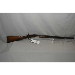 "Winchester Model 1890 .22 Short Cal Tube Fed Pump Action Rifle w/ 24"" octagon barrel [ fading blue f"
