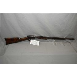"Winchester Model 1890 .22 WRF Cal Tube Fed Pump Action Rifle w/ 24"" octagon barrel [ fading blue fin"