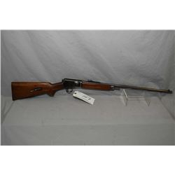 "Winchester Model 63 22 LR Cal Tube Fed Semi Auto Rifle w/ 23"" round barrel [ blued finish fading to"