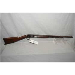 "Remington Model 12 C .22 LR Cal Tube Fed Pump Action Rifle w/ 24"" octagon bbl [ fading blue finish t"