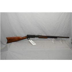 "Marlin Model 27 - S .25 RF Cal Tube Fed Pump Action Rifle w/ 24"" round barrel [ blued finish, fading"
