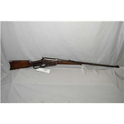 "Winchester Model 95 .303 Brit Cal Lever Action Rifle w/ 28"" round bbl [ fading blue finish, turning"