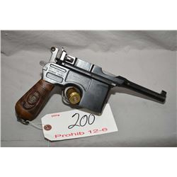 Mauser Model C 96 Broomhandle Military Red Nine .9 MM Luger Cal 10 Shot Semi Auto Pistol w/ 102 mm b