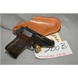 Walther Model PPK 7.65 MM Cal 7 Shot Semi Auto Pistol w/ 83 mm bbl [ blued finish, some holster wear