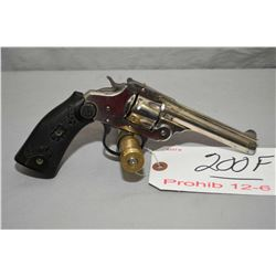 Iver Johnson Model Safety Hammer Automatic .32 S & W Cal 5 Shot Revolver w/ 102 mm bbl [ flaking nic