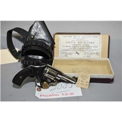 Colt Model Pocket Positive ( DA 32 ) .32 Long Colt Cal 6 Shot Revolver w/ 63 mm bbl [ nickel finish