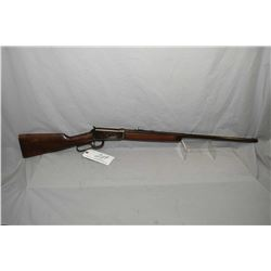 "Winchester Model 1894 .38 - 55 Cal Lever Action Rifle w/ 26"" 1/2 octagon 1/2 round barrel button mag"
