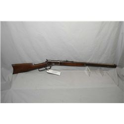 "Winchester Model 1892 .38 WCF Cal Lever Action Rifle w/ 24"" round barrel full mag [ patchy fading bl"