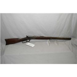 "Winchester Model 1892 .32 WCF Cal Lever Action Rifle w/ 24"" round barrel full mag [ patchy blue fini"