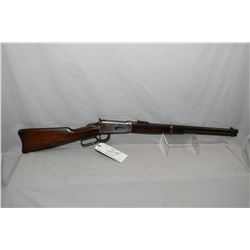 "Winchester Model 94 .38 - 55 Cal Lever Action Saddle Ring Carbine w/ 20"" round barrel full mag [ blu"