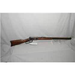 "Winchester Model 1894 .32 - 40 Cal Lever Action Rifle w/ 26"" octagon barrel full mag [ patchy blue f"