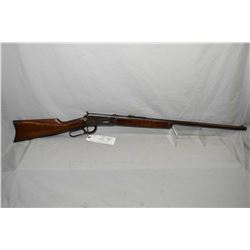 "Winchester Model 1894 .38 - 55 Cal Lever Action Rifle w/ 26"" round barrel button mag [ fading blue f"