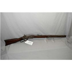 "Winchester Model 1873 3 rd Model .38 Cal Lever Action Rifle w/ 24"" round barrel full mag [ faded blu"