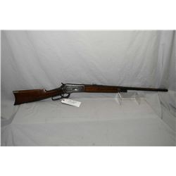 "Winchester Model 1886 .38 - 56 WCF Cal Lever Action Rifle w/26"" half round half octagon barrel half"