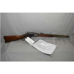 "Winchester Model 1873 3rd Model .44 WCF Cal Lever Action Saddle Ring Carbine w/ 20"" round barrel ful"
