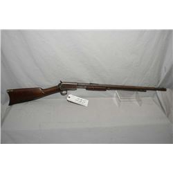"Winchester Model 1890 .22 Long Cal ONLY Tube Fed Pump Action Rifle w/ 24"" octagon bbl [ fading blue"