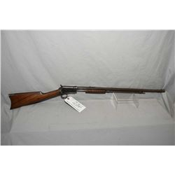 "Winchester Model 1890 .22 WRF Cal Tube Fed Pump Action Rifle w/ 24"" octagon bbl [ fading patchy blue"