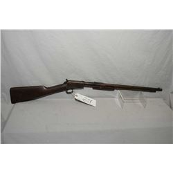 "Winchester Model 1906 .22 LR Cal Tube Fed Pump Action w/ 20"" round bbl [ patchy blue finish turning"