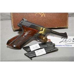 Colt Model Woodsman .22 LR Cal 10 Shot Semi Auto Pistol w/ 114 mm bbl [ blued finish, few marks, goo