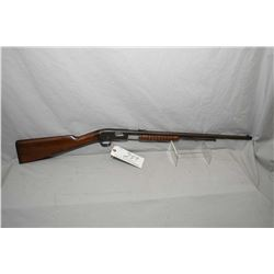 "Remington Model 12 .22 LR Cal Tube Fed Pump Action Rifle w/ 22"" round bbl [ fading blue finish turni"