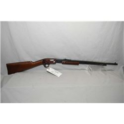 "Stevens Model 75 .22 LR Cal Tube Fed Pump Action Rifle w/ 24"" round bbl [ reblued finish, with plum"