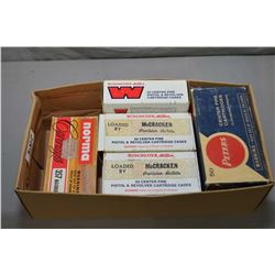 Small Box Lot : Approx. 330 Plus Rounds .38 Spec Cal RELOADS & 7 Rnds .357 Mag Ammo, etc.