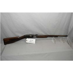 "Remington Model 12 .22 LR Cal Tube Fed Pump Action Rifle w/ 22"" round bbl [ fading patchy blue finis"