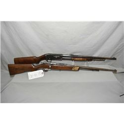 "Lot of Two Firearms : Remington Model 14 - A .30 Rem Cal Pump Action Rifle w/ 22"" bbl [ fading blue"