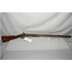 "Unknown Model Side By Side Hammer .24 Ga Percussion Black Powder Shotgun w/ 30"" bbls [ faded blue fi"