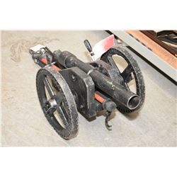 """Medium Hand Made Breech Loading 2"""" Bore Cannon, with 21"""" bbl, 39"""" Overall Length , 13"""" Wheels, 18"""" W"""